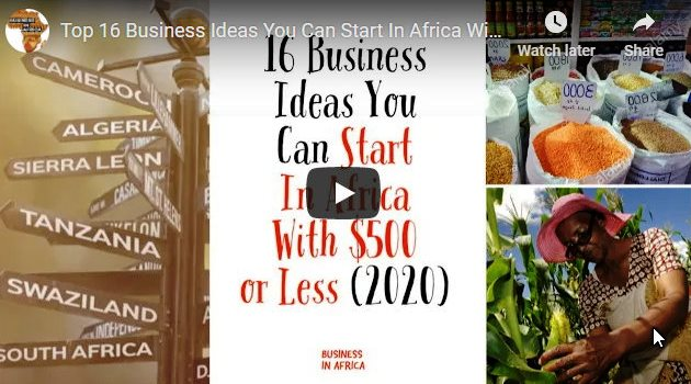 Top 16 Business Ideas You Can Start In Africa With $500 or Less, best business ideas in africa,